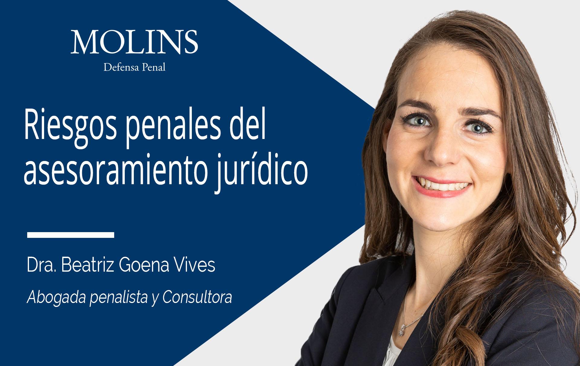 Riesgos penales del asesoramiento jurídico en opraciones sensibles